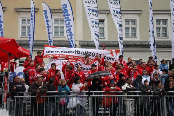 Die Fans jubelten den Läufern zu!