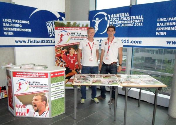 Promo beim Handballthriller Österreich gegen Deutschland in Innsbruck!