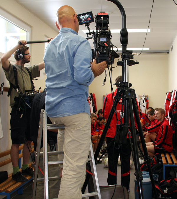 Team Rot Weiss Rot-Spot-Drehtag für Team Austria!